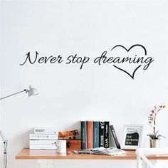 Wall Stickers Removable Art Vinyl Quote Decal Bedroom Mural Home DIY Decor DB