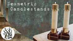 Upcycled Geometric Candlesticks (MonkWerks) Very good video. Candlesticks, Wood Projects, Upcycle, Wall Lights, Youtube, Home Decor, Candle Holders, Candle Sticks, Appliques