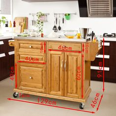 SoBuy Luxus-Carrito de cocina con piso de acero, estantería de cocina, carrito de servir de bambú de alta calidad L129xP46xA91cm, FKW14-N.ES: Amazon.es: Hogar