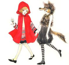 Little red riding hood and the wolf.... cute