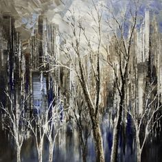 """""""Can't Wait for Spring!"""" by contemporary artist Tatiana Iliina, palette knife Painting - Acrylic 