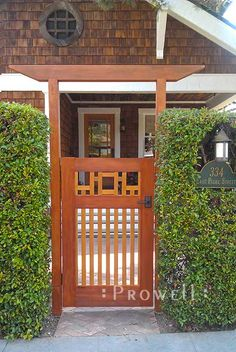 Garden gates 477240891737173896 - Prowell Woodworks' Arts and Crafts Wood Gate Source by briansondergaar Privacy Fence Landscaping, Privacy Fence Designs, Backyard Landscaping, Japanese Fence, Japanese Garden Design, Wooden Garden Gate, Wooden Gates, Wooden Gate Designs, Backyard Gates