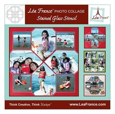 French scrapbooking technique - so easy!  Ooh I like the way the pictures are laid out. Cute idea