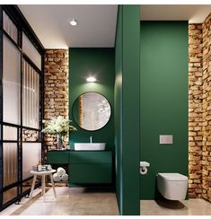 Bathroom- beautiful wall color
