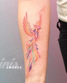 Small Phoenix Tattoos, Phoenix Tattoo Design, Cool Small Tattoos, Large Tattoos, Unique Tattoos, Beautiful Tattoos, Tattoos 3d, Black Ink Tattoos, Mini Tattoos