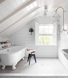 Bathroom Loft Conversion - Scandinavian Interiors                                                                                                                                                                                 More