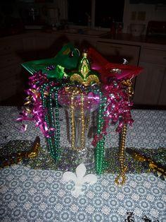 Mardi Gras Table decoration