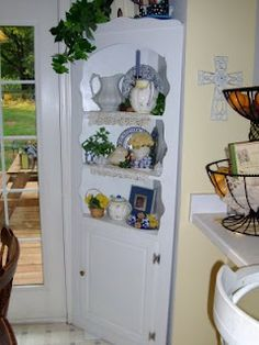 I want to make a china cabinet like this! so pretty