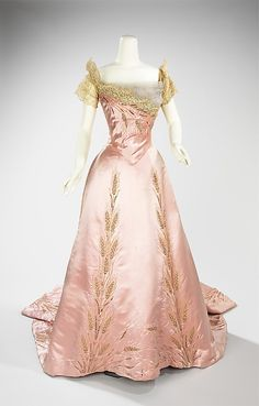 Dress (Ball Gown)  House of Worth  (French, 1858–1956)  Designer: Jean-Philippe Worth (French, 1856–1926) Date: 1900 Culture: French Medium: silk, rhinestones