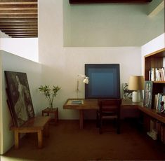 Spotted 👀 Josef Albers in the back! 💙 from Luis Barragan house photo found from 〰〰〰 My Living Room, Home And Living, Living Spaces, Interior Architecture, Interior And Exterior, Architecture Diagrams, Architecture Portfolio, Josef Albers, Palazzo