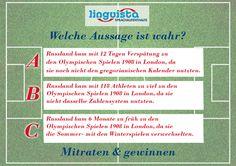 Welche Aussage ist wahr? Jetzt am Quiz teilnehmen und gewinnen: www.linguista.ch/wmquiz