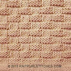 Textured Basketweave Stitch | Using combinations of knit and purl stitches | Knitting in the round