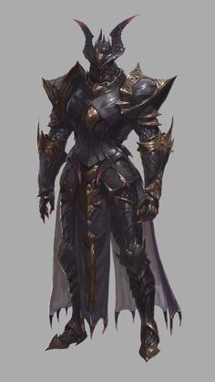 ArtStation - Study 04 and personal work, Changyoung jung Fantasy Concept Art, Fantasy Character Design, Dark Fantasy Art, Fantasy Artwork, Character Design Inspiration, Character Concept, Character Art, Dragon Armor, Dragon Knight