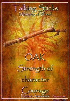 Talking Sticks / Meaning Of Wood - Oak Native American Wisdom, American Spirit, Native American History, Native American Indians, Animal Spirit Guides, Spirit Animal, Talking Sticks, Spirit Sticks, Astrology