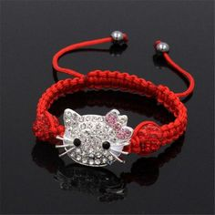 Child cat head bracelet