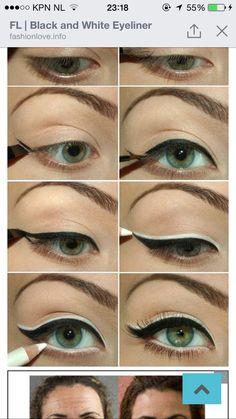 For more #solid #fashion #closet - Visit www.solidcloset.com . Black white eyes blackwhite  -  liner,  #smoking -  #eye  blach