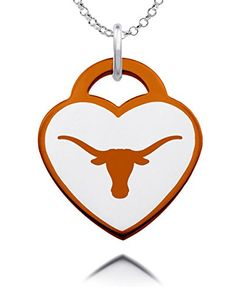 Texas Longhorns Logo Heart Charm with Color ** Learn more by visiting the image link.