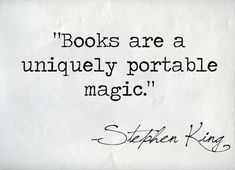 Great quote from Stephen King!