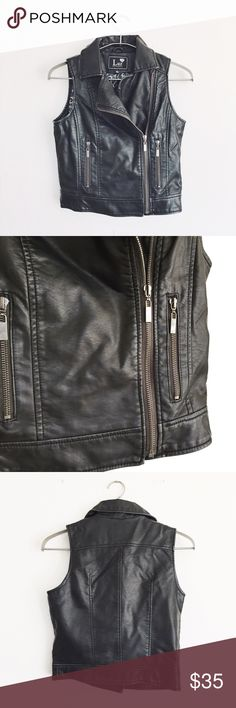 Vegan leather vest Such a cute fit and the vegan leather is convincing. Jackets & Coats Vests