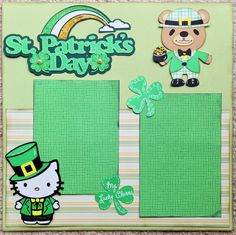 Cricut St. Patrick's Day.  For my two grandkid's pictures