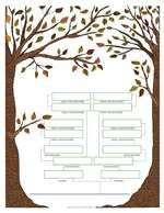 Family Tree Template 2: Leafy Illustration Family Tree Template