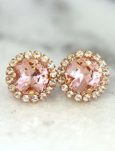 Check out this item in my Etsy shop https://www.etsy.com/il-en/listing/264517585/blush-earringsbridal-blush-earringsrose