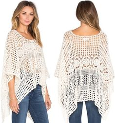 Perfect crochet pattern for making a skirt. Crochet pattern for making a poncho. Comes with detailed do-it-yourself PDF instructions and charts.