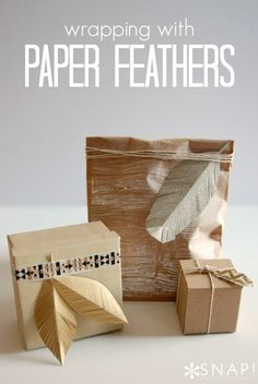 Packaging with paper feathers - I love how she shows you how to easily make them, too!
