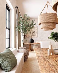 Home Living Room, Living Room Decor, Living Spaces, Dining Room, Small Living, Minimalism Living, Home Design, Floor Design, Nordic Design