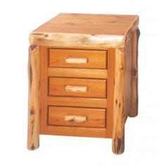 Traditional Three Drawer Nightstand