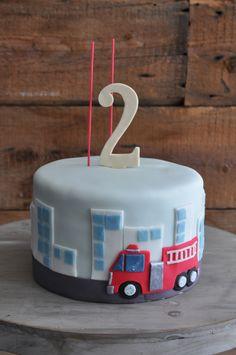 Gâteau 2 ans, pompiers, garçon