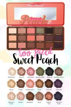 Makeup A to Z -  I need to compose myself before I write this post as I am so excited about the launch of the Too Faced Sweet Peach Eyeshadow Palette. Deep breaths necessary. I feel like already, this