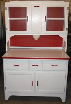 Antiques  Hoosier cabinet (Mama's friend, Chris, had one in her kitchen.)