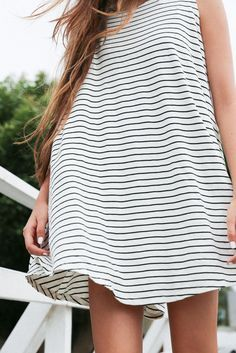 striped swing dress. | @andwhatelse