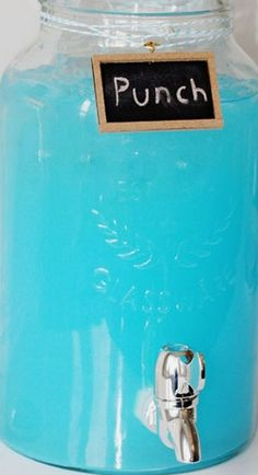 Baby Boy Blue Shower Punch Recipe ~ 3 - 2 L Bottles of Sprite Zero or any Clear Soda, 1-2 pkgs of Kool-Aid Twists Ice Blue Raspberry Lemonade (Substitute Pink Lemonade Kool-Aid for Baby Girl Pink Shower Punch!), and 1 Bag of Ice