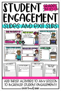 These are great exit tickets because they are so diverse. It gives students the ability to use different avenue to express what they know. Elementary Education, Upper Elementary, Physical Education, Childhood Education, Elementary Teaching Ideas, Special Education, Values Education, Education Major, Education English