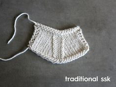 Cocoknits Tutorial: A Neater Way to SSK // Do your k2tog's look neater than your ssk's? Depending on how you knit, this neater way to ssk may neaten up your decrease stitches — give it a try!