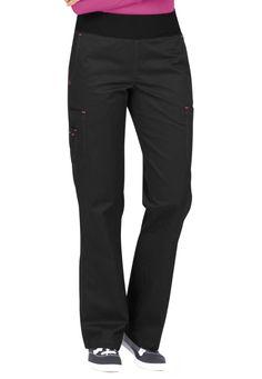 Med Couture MC2 Yoga Scrub Pants - Black/Raspberry - 2X: These fantastic scrub pants are made with a… #NursingUniforms #CheapScrubs