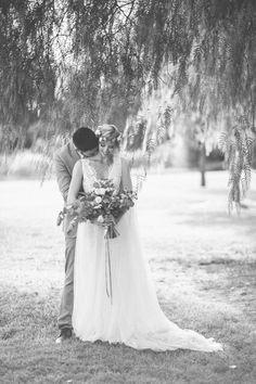 Jasmine on her wedding day wearing a custom Corston Couture Gown. #realbride #corstoncouture #countrywedding #sydneybridaldesigner #bridaldesigner #corston