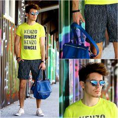 Kenzo Jungle Tee, Ray Ban Mirrored Shades, H&M Pattern Pants, Givenchy Pandora Medium, Converse All Stars, Daniel Welington Daniel Wellington Watch