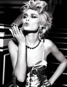 Vogue Italia February 2013 Beauty Editorial - Bianca Balti