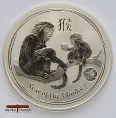 2016 Australian year of the Monkey privy mark 1 ounce Silver Bullion Coin is the Ninth animal in the 12-year cycle of the Chinese zodiac.