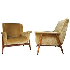 Pair of Armchairs in the Style of Gianfranco Frattini, Italy, circa 1958 1