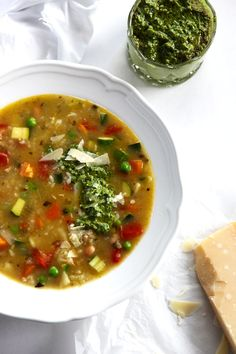 I Quit Sugar - Minestrone with Pesto by Little Big H.