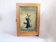 Vintage Advertising DeLaval Cream Separators Counter Advertising Display Case