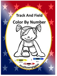 Summer Olympics Track and Field Color By Numbers Coloring Pages. Children love…