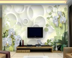 Beibehang 3D Wallpaper Home Decorative Background Clivia Flower 3D Living Room Sofa Background murals wallpaper for walls 3 d #Affiliate