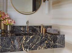 dramatic powder room photos - Google Search