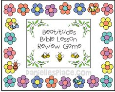 Beatitudes Bible Lesson Review GAme