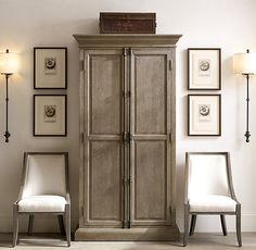 French Panel Double-Door Cabinet